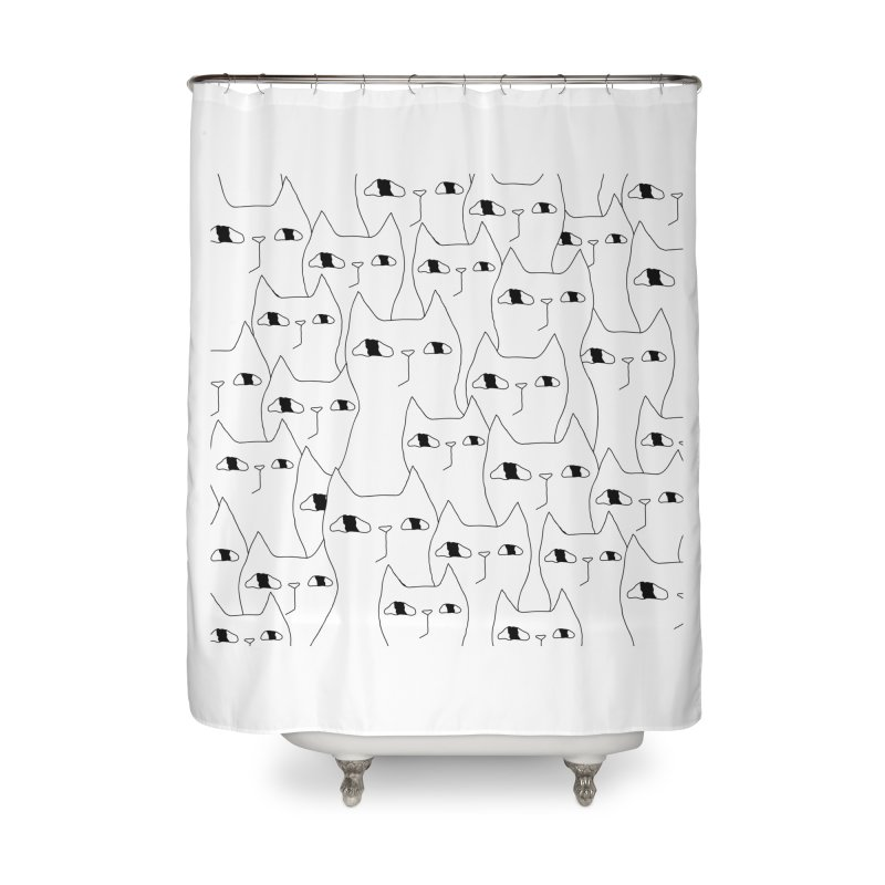 Cat Invasion Home Shower Curtain by PENARULIT's Artist Shop