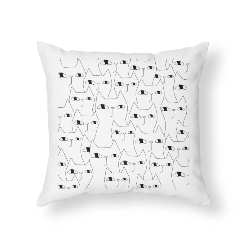 Cat Invasion Home Throw Pillow by PENARULIT's Artist Shop