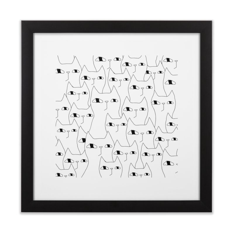 Cat Invasion Home Framed Fine Art Print by PENARULIT's Artist Shop