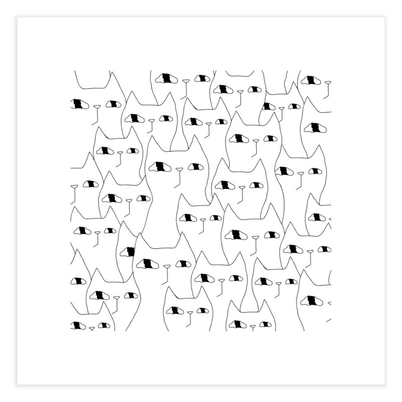 Cat Invasion Home Fine Art Print by PENARULIT illustration