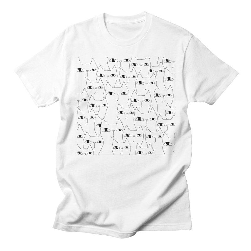 Cat Invasion Women's Regular Unisex T-Shirt by PENARULIT's Artist Shop