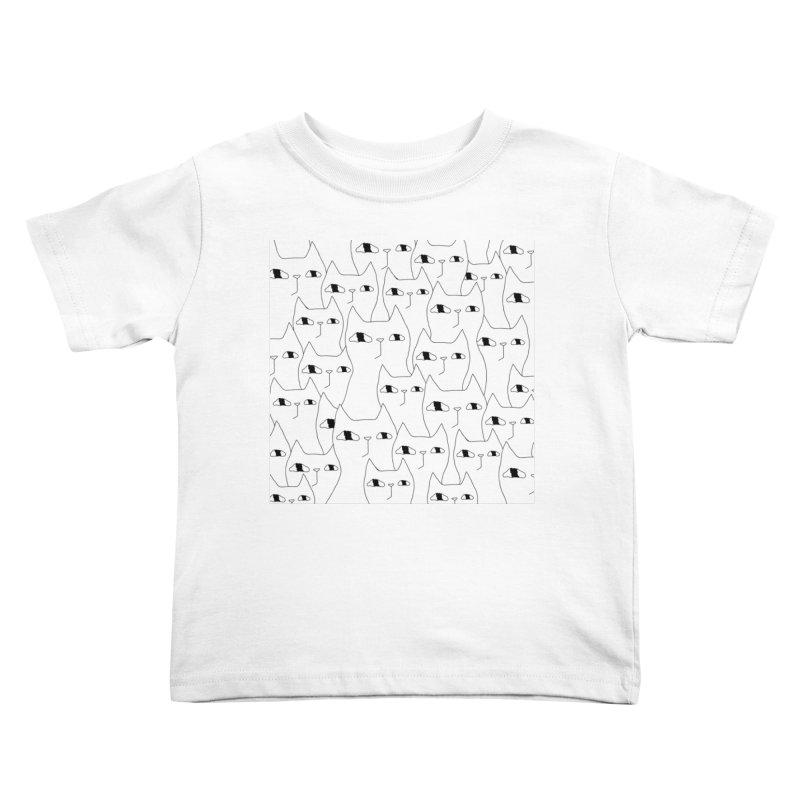 Cat Invasion Kids Toddler T-Shirt by PENARULIT's Artist Shop