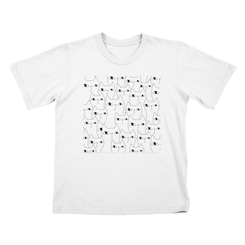 Cat Invasion Kids T-Shirt by PENARULIT's Artist Shop