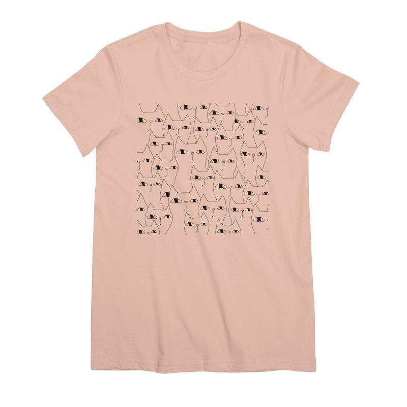Cat Invasion Women's Premium T-Shirt by PENARULIT illustration