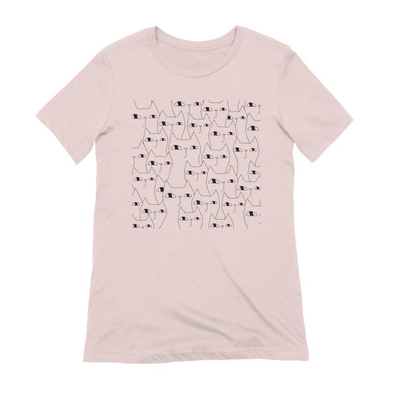 Cat Invasion Women's Extra Soft T-Shirt by Ekaterina Zimodro's Artist Shop