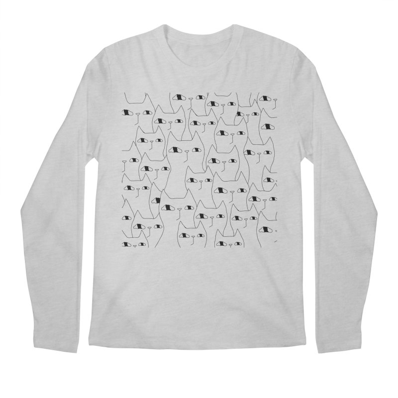 Cat Invasion Men's Longsleeve T-Shirt by Ekaterina Zimodro's Artist Shop