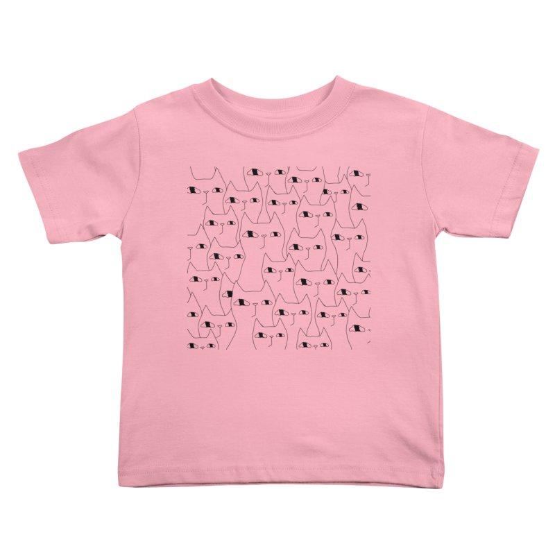 Cat Invasion Kids Toddler T-Shirt by PENARULIT illustration