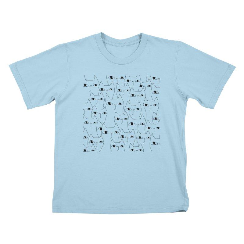 Cat Invasion Kids T-Shirt by PENARULIT illustration