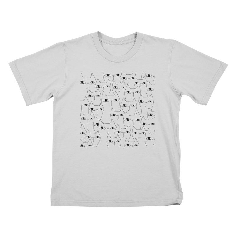 Cat Invasion Kids T-Shirt by Ekaterina Zimodro's Artist Shop