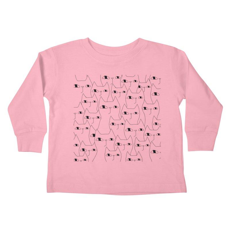 Cat Invasion Kids Toddler Longsleeve T-Shirt by Ekaterina Zimodro's Artist Shop