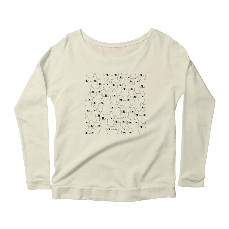 Cat Invasion Women's Longsleeve T-Shirt by Ekaterina Zimodro's Artist Shop