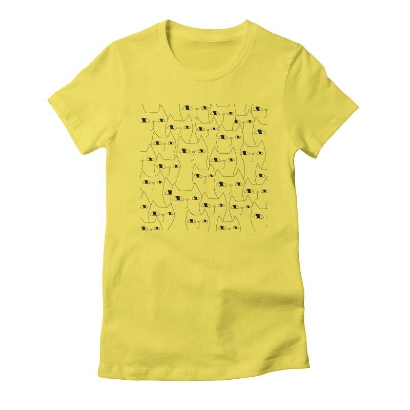 Cat Invasion Women's T-Shirt by PENARULIT illustration