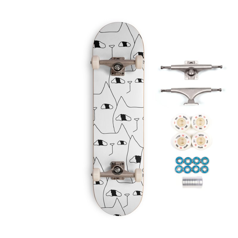 Cat Invasion Accessories Complete - Premium Skateboard by PENARULIT illustration
