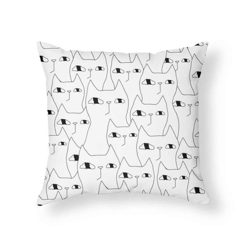 Cat Invasion Home Throw Pillow by Ekaterina Zimodro's Artist Shop