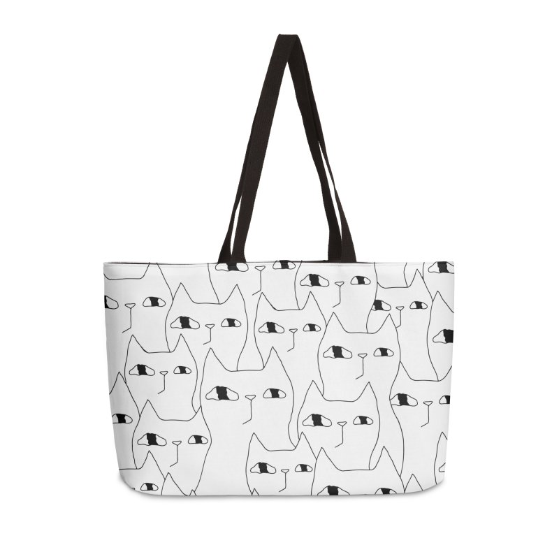 Cat Invasion Accessories Bag by PENARULIT's Artist Shop
