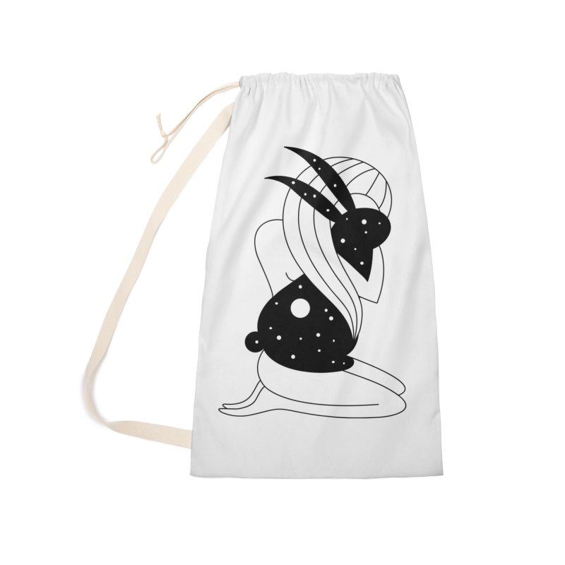 Follow The White Rabbit Accessories Bag by Ekaterina Zimodro's Artist Shop