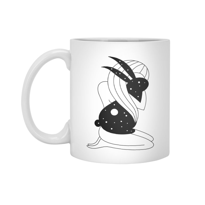 Follow The White Rabbit Accessories Standard Mug by PENARULIT illustration