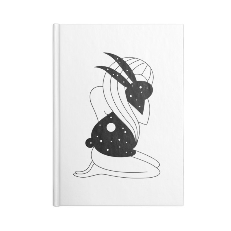 Follow The White Rabbit Accessories Lined Journal Notebook by PENARULIT illustration
