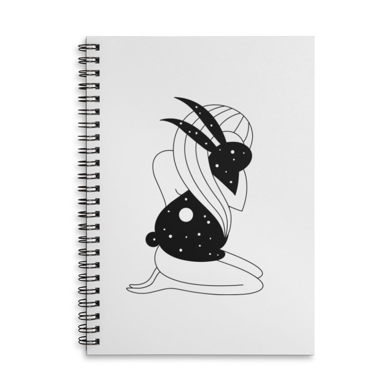 Follow The White Rabbit Accessories Lined Spiral Notebook by PENARULIT illustration