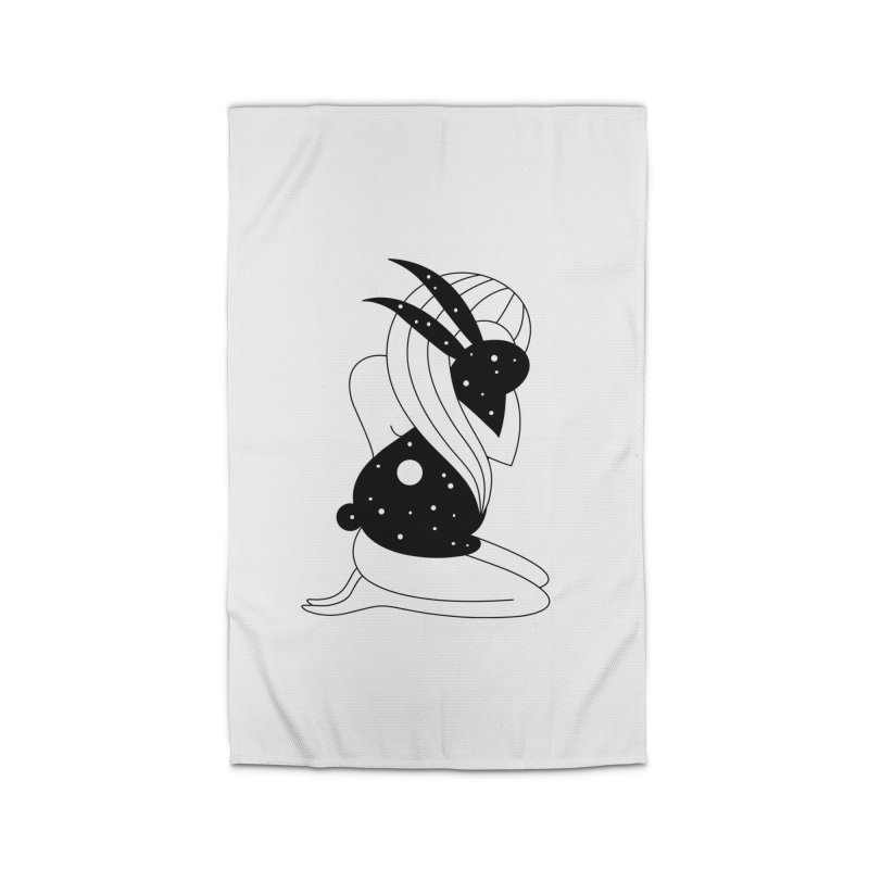 Follow The White Rabbit Home Rug by PENARULIT illustration