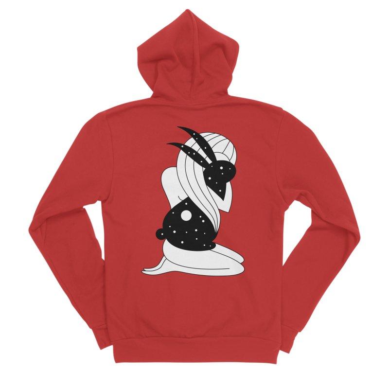 Follow The White Rabbit Men's Sponge Fleece Zip-Up Hoody by PENARULIT's Artist Shop