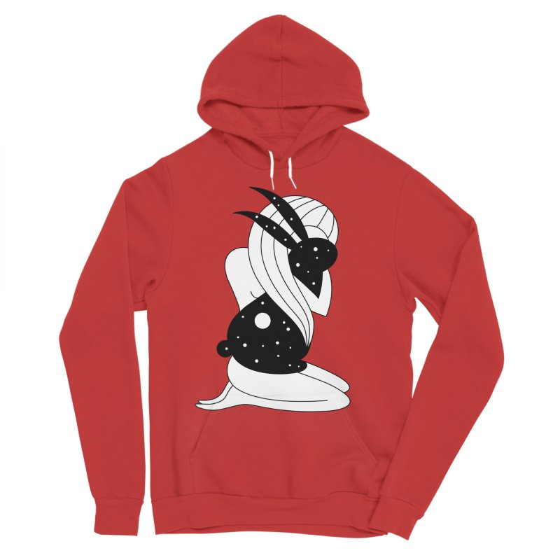 Follow The White Rabbit Men's Sponge Fleece Pullover Hoody by PENARULIT's Artist Shop