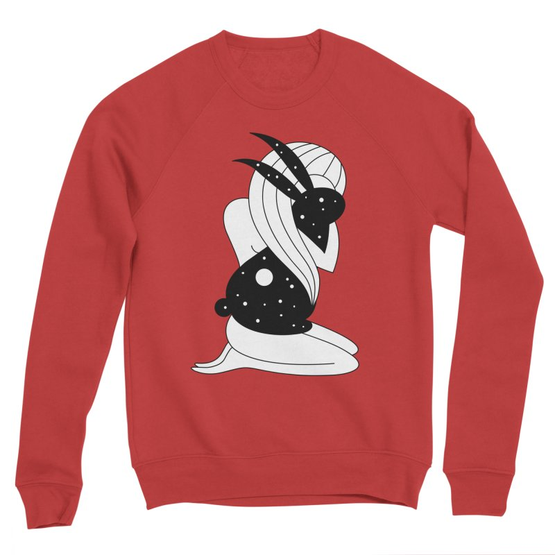 Follow The White Rabbit Men's Sponge Fleece Sweatshirt by PENARULIT's Artist Shop