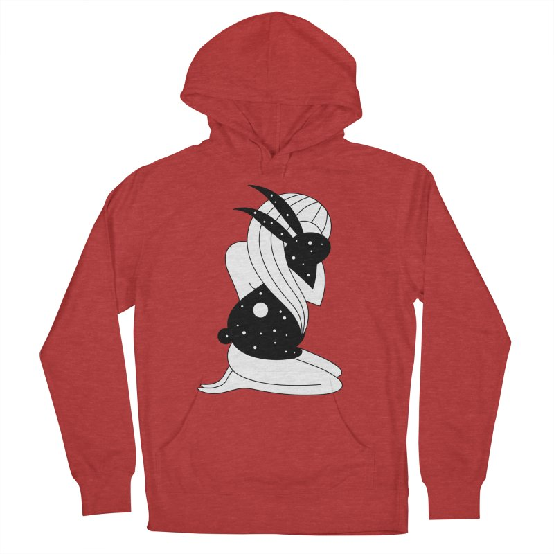 Follow The White Rabbit Women's French Terry Pullover Hoody by PENARULIT's Artist Shop
