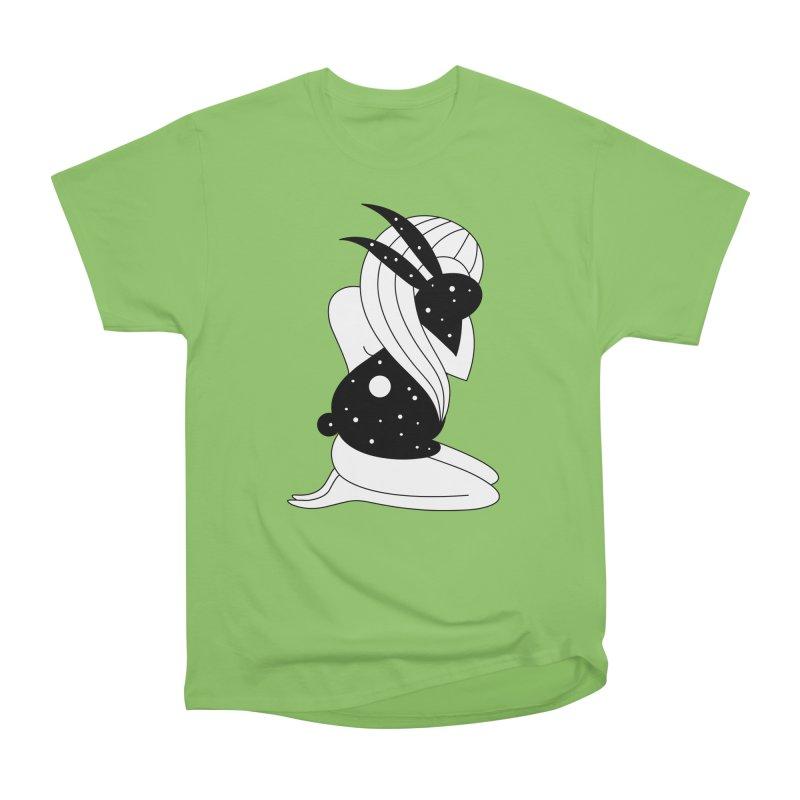 Follow The White Rabbit Men's Heavyweight T-Shirt by PENARULIT's Artist Shop