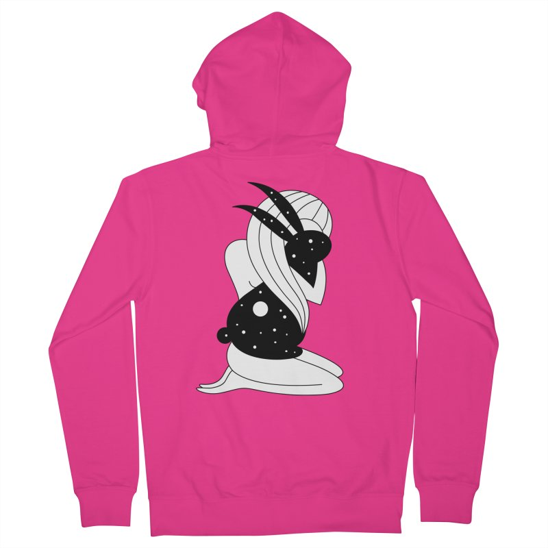 Follow The White Rabbit Men's French Terry Zip-Up Hoody by PENARULIT's Artist Shop