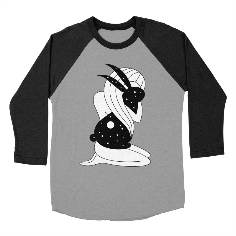 Follow The White Rabbit Men's Baseball Triblend Longsleeve T-Shirt by PENARULIT's Artist Shop