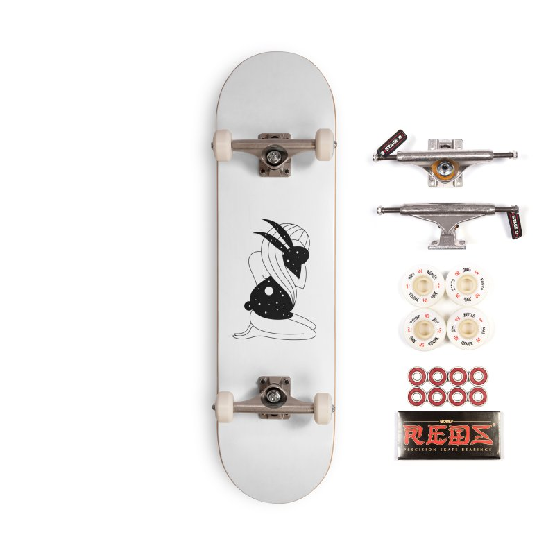 Follow The White Rabbit Accessories Complete - Pro Skateboard by PENARULIT illustration