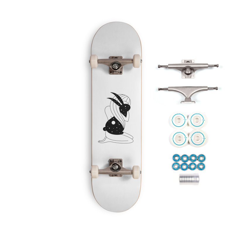 Follow The White Rabbit Accessories Complete - Basic Skateboard by PENARULIT illustration