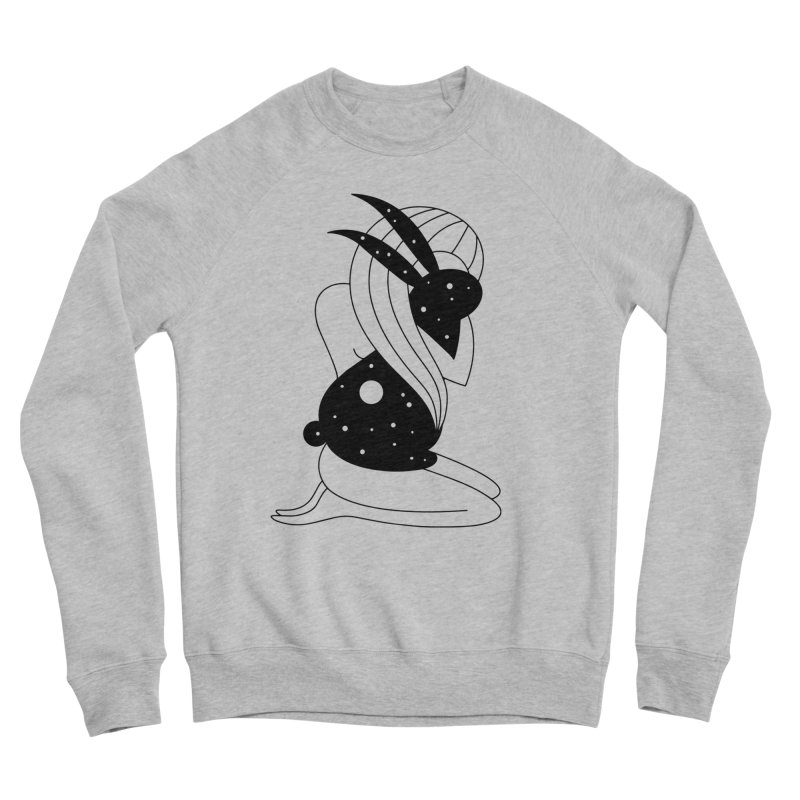 Follow The White Rabbit Men's Sweatshirt by Ekaterina Zimodro's Artist Shop