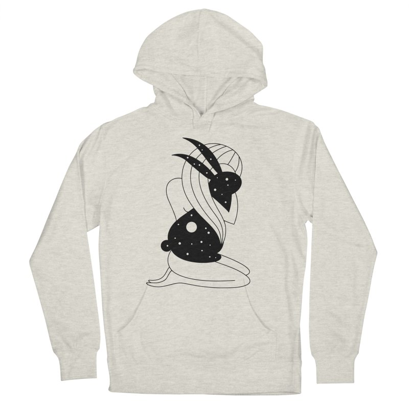 Follow The White Rabbit Men's French Terry Pullover Hoody by Ekaterina Zimodro's Artist Shop