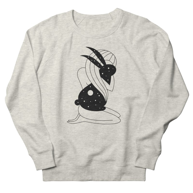 Follow The White Rabbit Women's French Terry Sweatshirt by PENARULIT illustration