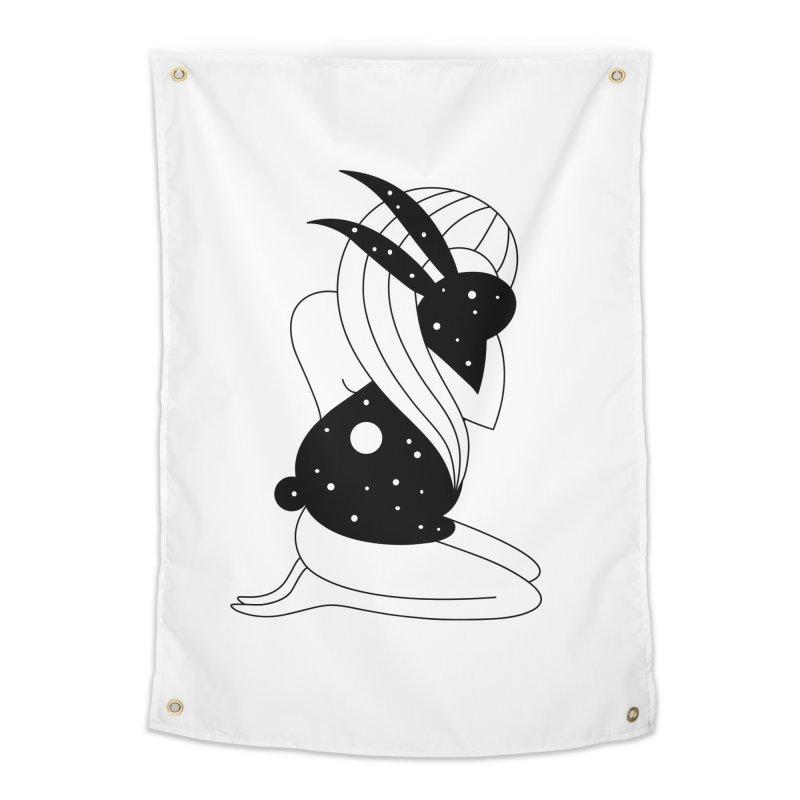 Follow The White Rabbit Home Tapestry by Ekaterina Zimodro's Artist Shop
