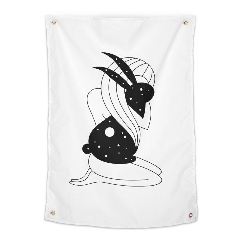 Follow The White Rabbit Home Tapestry by PENARULIT illustration