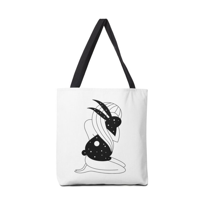 Follow The White Rabbit Accessories Tote Bag Bag by PENARULIT illustration