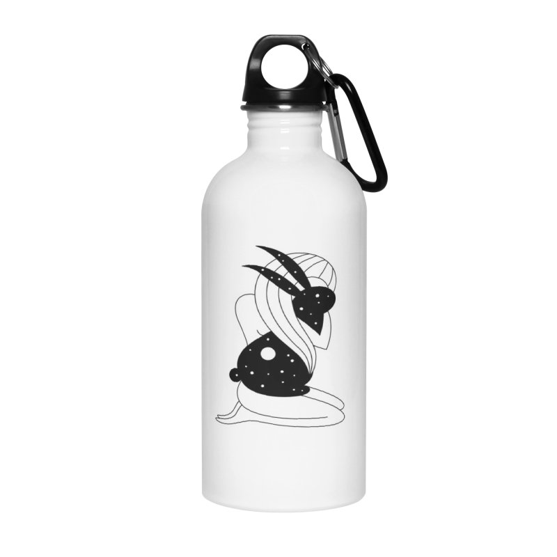 Follow The White Rabbit Accessories Water Bottle by PENARULIT illustration