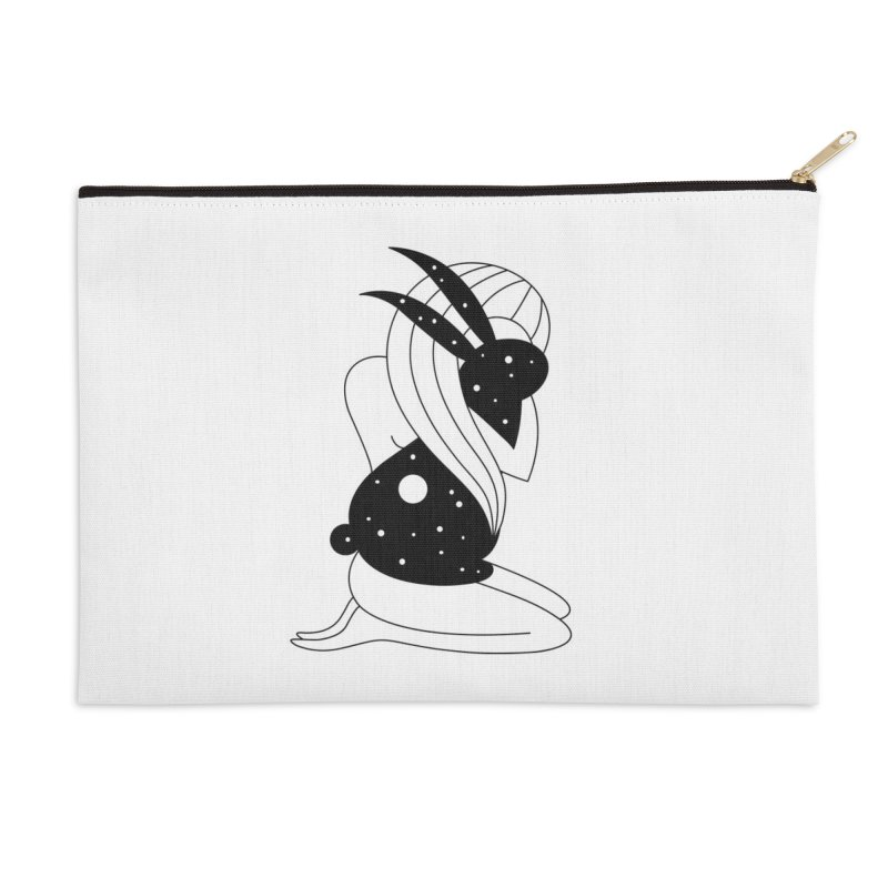 Follow The White Rabbit Accessories Zip Pouch by PENARULIT illustration