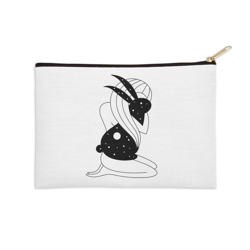 Follow The White Rabbit Accessories Zip Pouch by PENARULIT's Artist Shop