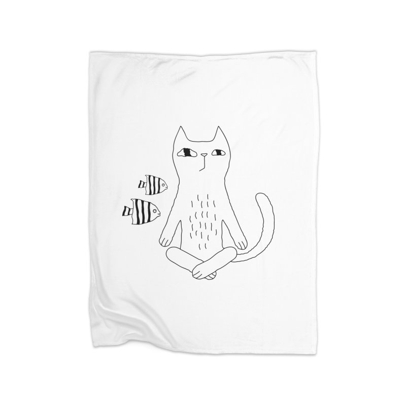 Catvana Home Fleece Blanket Blanket by PENARULIT illustration