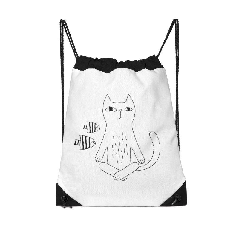 Catvana Accessories Drawstring Bag Bag by PENARULIT illustration