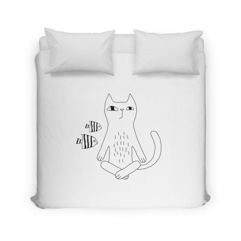 Catvana Home Duvet by PENARULIT illustration