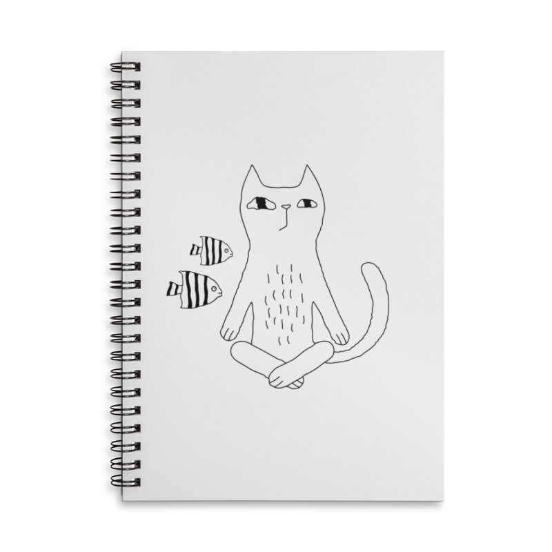 Catvana Accessories Lined Spiral Notebook by PENARULIT illustration