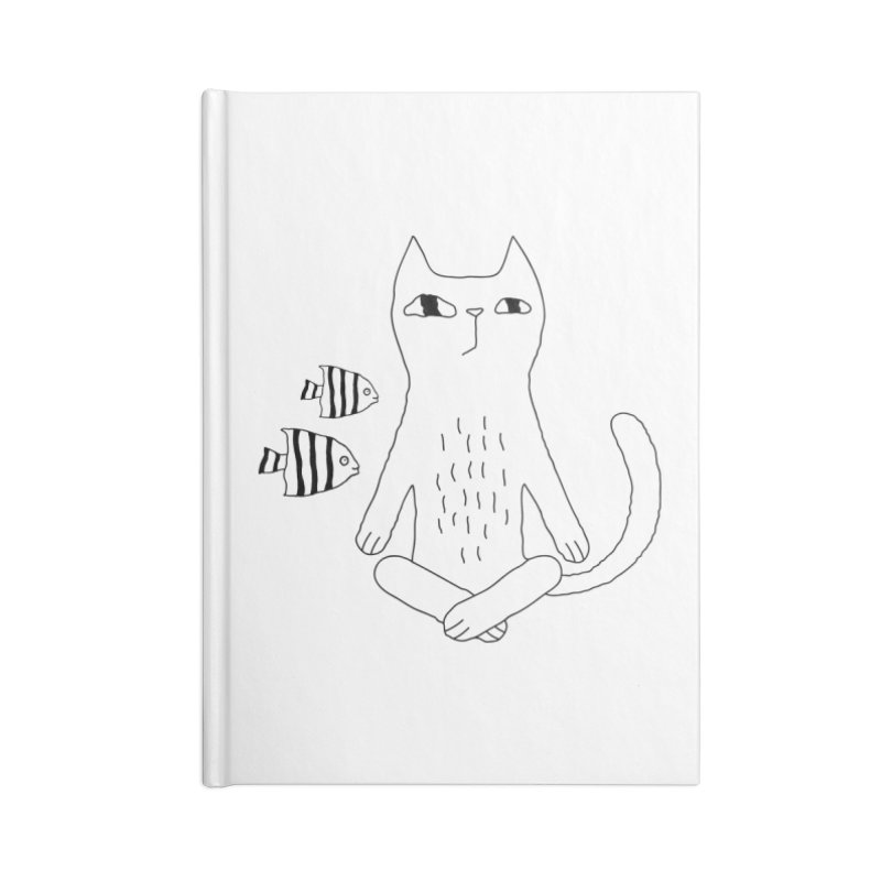 Catvana Accessories Lined Journal Notebook by PENARULIT illustration