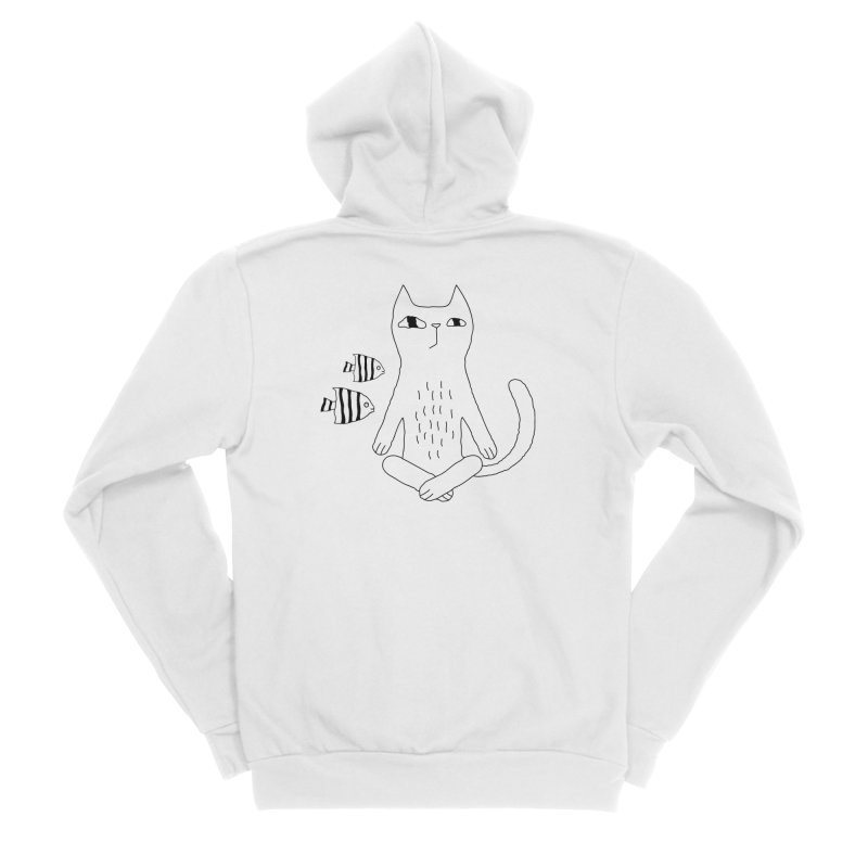 Catvana Men's Sponge Fleece Zip-Up Hoody by PENARULIT illustration
