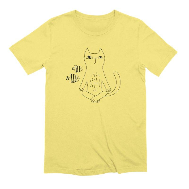 Catvana Men's T-Shirt by Ekaterina Zimodro's Artist Shop