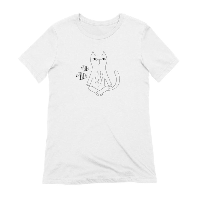 Catvana Women's Extra Soft T-Shirt by Ekaterina Zimodro's Artist Shop